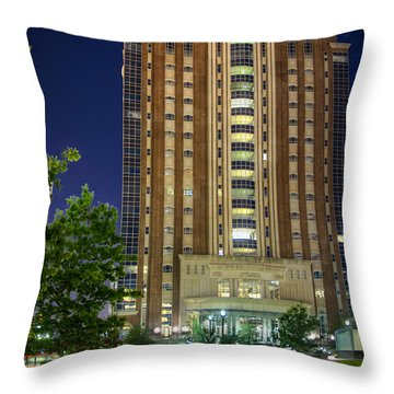 Harris County Civil Courthouse Throw Pillow