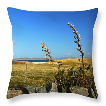 Harris Outer Hebrides Throw Pillow by The Creative Minds Art and Photography