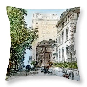 Harrison Residence East Rittenhouse Square Philadelphia C 1890 Throw Pillow