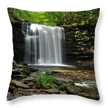 Harrison Wright Falls Throw Pillow by Frozen in Time Fine Art Photography