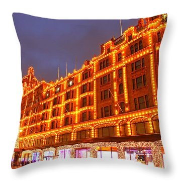 Throw Pillow featuring the photograph Harrods 2 by Mariusz Czajkowski