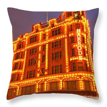 Throw Pillow featuring the photograph Harrods 3 by Mariusz Czajkowski