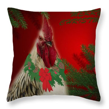 Harry Christmas Wishes Throw Pillow by Donna Brown