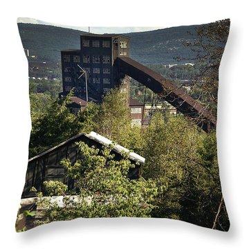 Harry E Colliery Swoyersville Pa Summer 1994 Throw Pillow