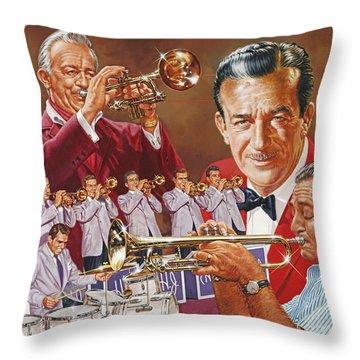 Harry James Trumpet Giant Throw Pillow
