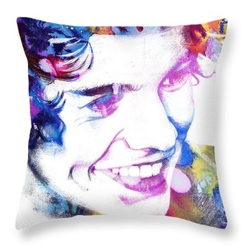 Harry Styles - One Direction Throw Pillow by Doc Braham