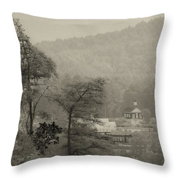 Throw Pillow featuring the photograph Harshaw Chapel by Margaret Palmer