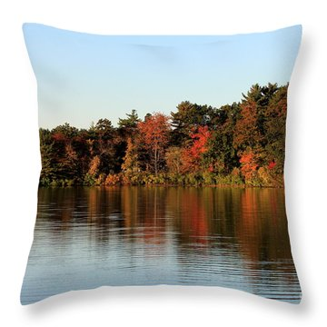 Hart Pond Golden Hour Throw Pillow by Kenny Glotfelty
