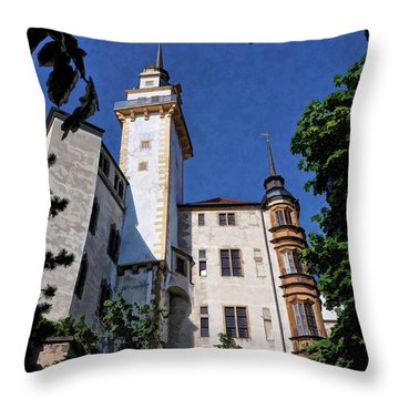 Throw Pillow featuring the photograph Hartenfels Castle - Torgau Germany by Mark Madere