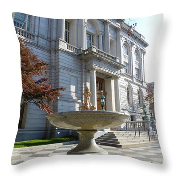 Hartford Historical Building Throw Pillow