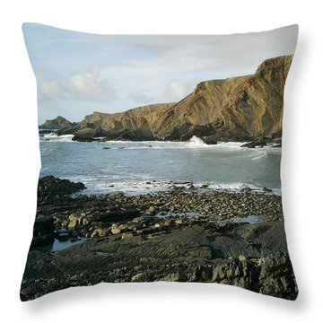 North Devon - Hartland Quay Throw Pillow