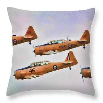 Harvard Aircraft  Throw Pillow