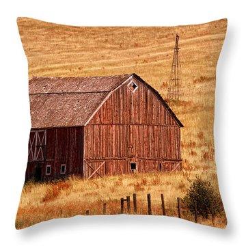 Harvest Barn Throw Pillow