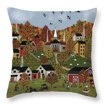 Harvest Celebration II Throw Pillow by Medana Gabbard