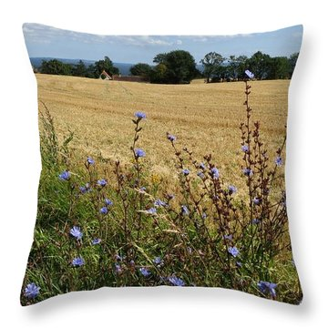 Harvest In Denmark Throw Pillow