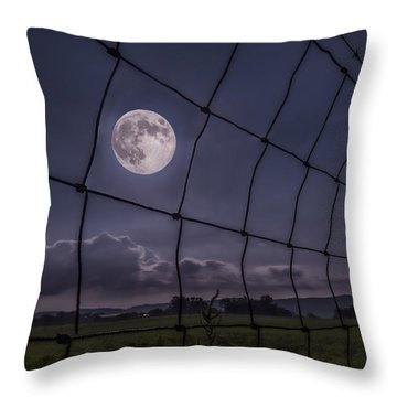 Throw Pillow featuring the photograph Harvest Moon by Jaki Miller