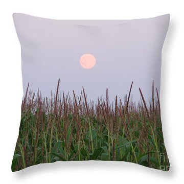 Harvest Moon Throw Pillow by Michael Krek