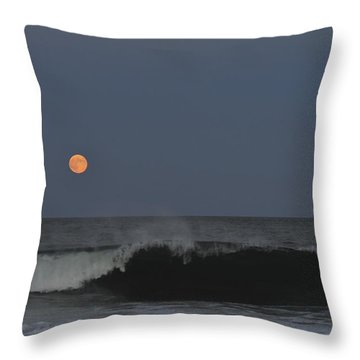 Harvest Moon Seaside Park Nj Throw Pillow