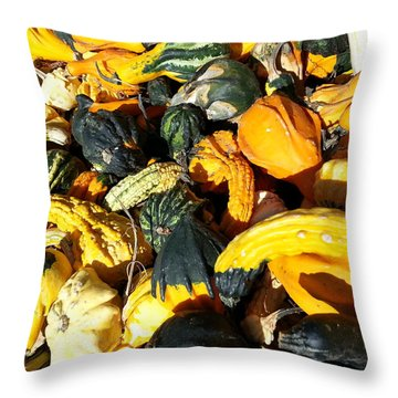 Harvest Squash Throw Pillow