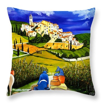 Harvest The Grapes Throw Pillow