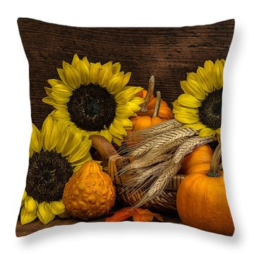 Harvest-time Throw Pillow