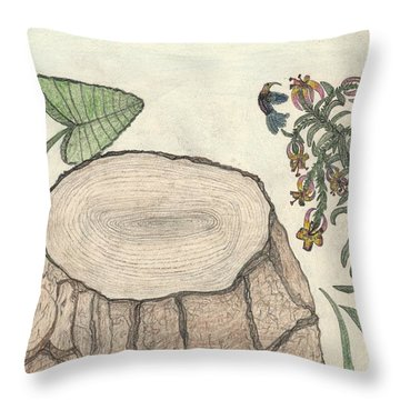 Harvested Beauty Throw Pillow