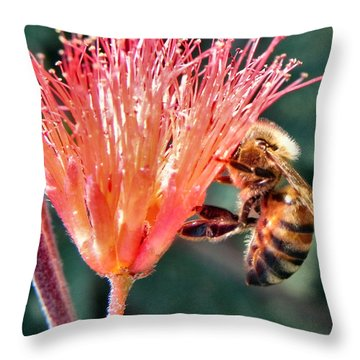 Throw Pillow featuring the photograph Harvesting by Deb Halloran