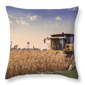 Harvesting The Corm Throw Pillow