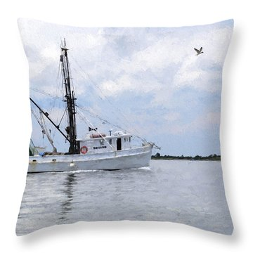 Harvesting The Waters Throw Pillow
