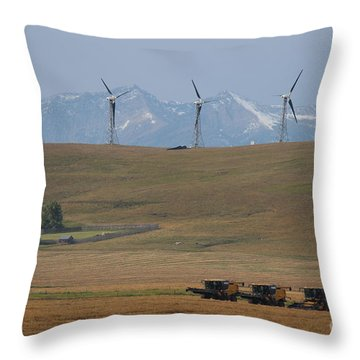 Harvesting Wind And Grain Throw Pillow
