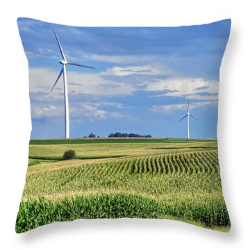 Harvests Throw Pillow