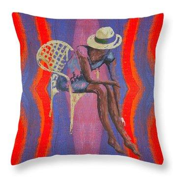 Hat 2 Throw Pillow by Patrick J Murphy