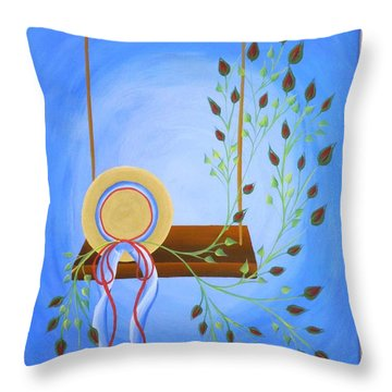 Hat On A Swing Throw Pillow