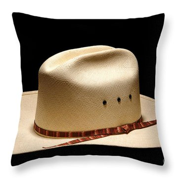 Hat On Black Throw Pillow by Olivier Le Queinec
