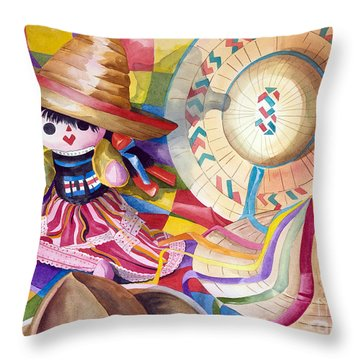 Hat Party IIi Throw Pillow