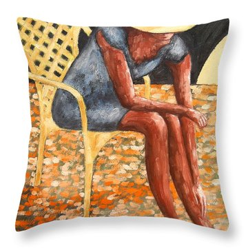 HAT Throw Pillow by Patrick J Murphy