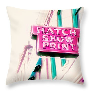 Hatch Show Print Throw Pillow by Amy Tyler