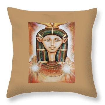Hathor Rendition Throw Pillow