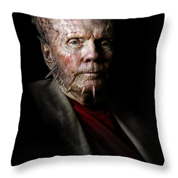 Hatred From Within Throw Pillow