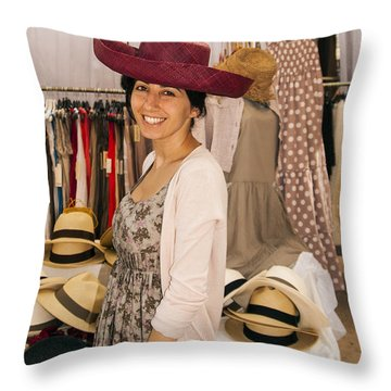 Hats Throw Pillow by Bob Phillips
