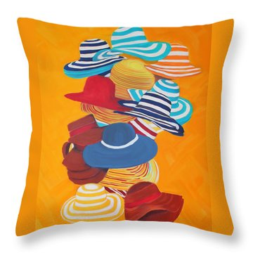 Hats Off Throw Pillow