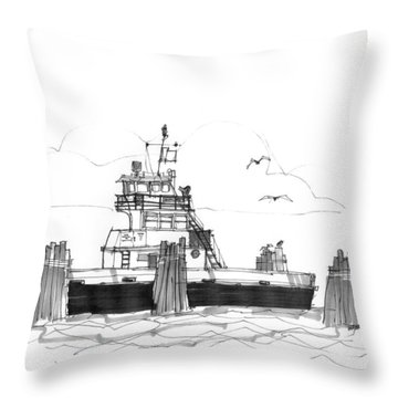 Hatteras Ferry Throw Pillow