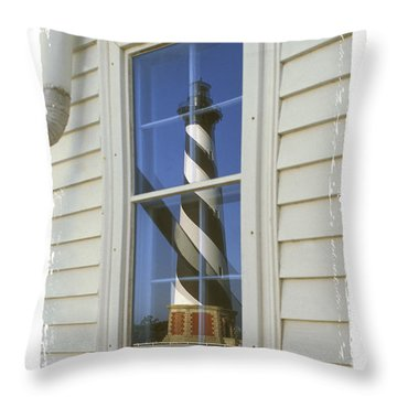 Hatteras Lighthouse  S P Throw Pillow by Mike McGlothlen