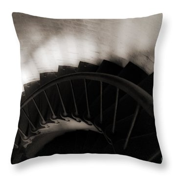 Throw Pillow featuring the photograph Hatteras Staircase by Angela DeFrias