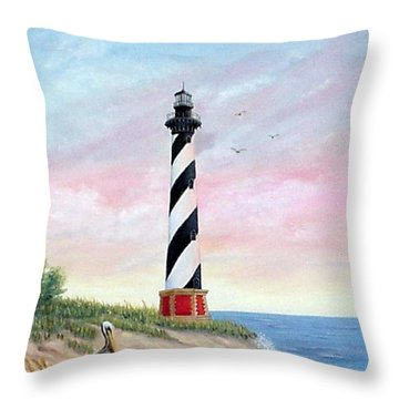 Hatteras Sunrise Throw Pillow
