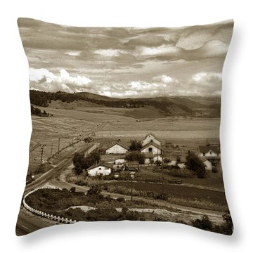 Hatton Ranch Carmel Valley From Highway One California  1940 Throw Pillow by California Views Mr Pat Hathaway Archives