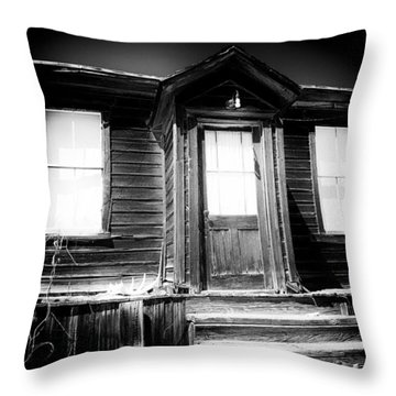 Haunted Throw Pillow by Cat Connor