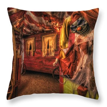 Haunted Circus Throw Pillow