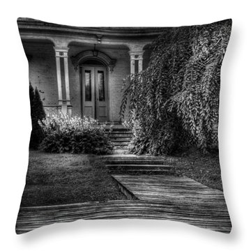 Haunted - Haunted II Throw Pillow by Mike Savad