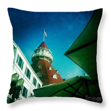 Haunted Hotel Del Throw Pillow